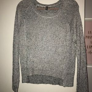 Metallic Pullover Sweater